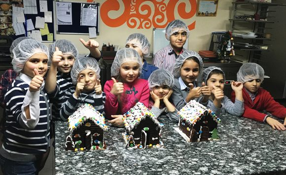 "THE VISIT OF LITTLE ""CONFECTIONERS"" IN ""PASTICCERIA"""